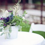 Mocha Violet Wedding Flowers Example