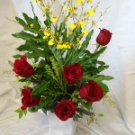 Violet Valentines Day Flowers Example