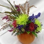 Mocha Violet Thanksgiving Flowers Example