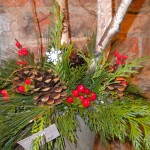 Mocha Violet Christmas Flowers Example